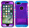 For Apple iPhone 7 & 7 Plus KoolKase Hybrid Silicone Cover Case - Pink Glitter