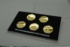 More details for 24ct gold castle series commemoratives and 50p coin presentation/display case