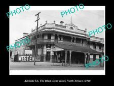 Old Postcard Size Photo Of Adelaide Sa Black Swan Hotel North Tce 1940