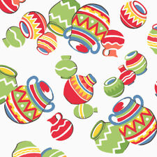 Windham SOUTH OF THE BORDER Mexican Clay Pots Fabric - White