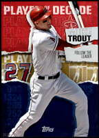 Mike Trout 2020 Topps Player of the Decade 5x7 Gold #MT-8 /10 Angels