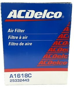 NOS OEM GM ACDELCO High Flow Engine Air Filter Cadillac Chevy GMC A1618C NEW