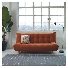 New KOTA Orange fabric 3 seater sofa bed 257693  4-3-91 RRP £395.00