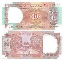 INDIEN INDIA 10 RUPEES 1992 LETTER E SIGN 87 UNC P 88 g