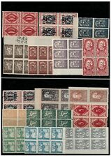 Yugoslavia SHS Slovenia 1918/20 lot stamps in block of four and six MNH