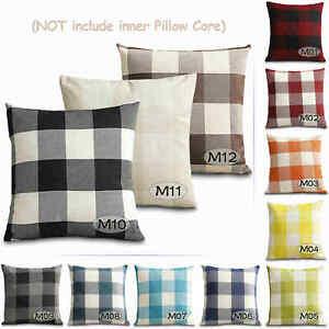 45x45cm Cushion Cover Cotton Linen Sofa Decorative Throw Pillows Case for Room