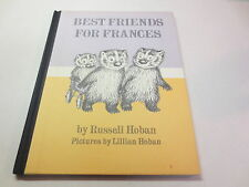 Best Friends For Frances by Russell Hoban vintage 1969 Harper & Row hardcover