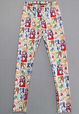 Mujeres Estampado Calzas Leggings de galaxia dibujos animados Sailor Moon Slim S-4XL 3416