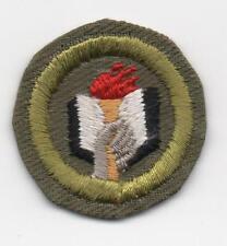 Scholarship Merit Badge, Type E Khaki Narrow Crimped (1947-60), Mint!