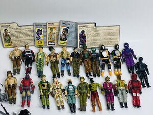Vintage Hasbro GI JOE 3.75 Figure and Accessories Lot 22 Snake Eyes