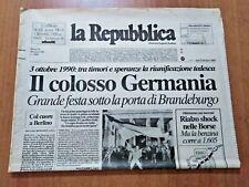 LA REPUBBLICA 3/10/1990 La riunificazione della Germania