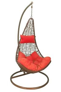 Large Red Cushion For Hanging Egg/Swing Chair W/ Head Rest *CHAIR NOT INCLUDED