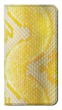 W2713 Yellow Snake Skin Graphic Printed Flip Case for IPHONE Samsung ETC
