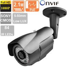License Plate Recognition IP Camera 2.1MP 1080P 5-50mm Varifocal Lens 84 IR LEDs