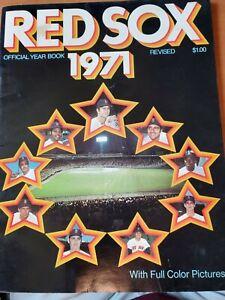 1971 Boston Red Sox Yearbook Yastrzemski, Petrocelli, Fisk, Lonborg, Smith