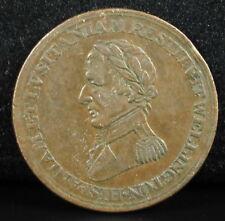 Jeton Token Half ½ penny Duc de Wellington 1812 Rodrigo Badajoz Salamanca Espana