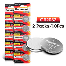 10X Panasonic CR2032 3v Coin Batteries for Watches, Car Remotes, Toys