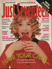 Just Seventeen Magazine 30 September 1987 Nick Kamen Chris Lowe of Pet Shop Boys