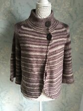 BNWT Papaya Brown Wool Blend Soft Feel Poncho Style Cardigan Size 16