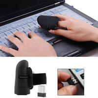 Mini Bluetooth Wireless Finger Mouse Optical Handheld Trackball Ring Mice purple
