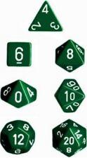 Chessex dice poliédricas 7 Die Set-Opaco Verde/Blanco-DND/Gaceta Etc