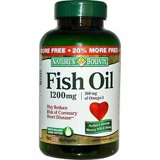 Natures Bounty Fish Oil 1200 mg Softgels Omega-3 120ct
