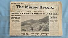 New listing 1957 Mining Record-Gunnison Colo. Lithium Mine-Missouri Lead Mines-Uranium Mines