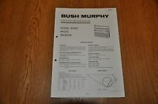 Bush / Murphy BV5651 AM / FM radio Receiver. Vintage Service Manual TP1911