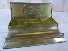 Antique J.E. Mergott Co Advertising Specialties Newark N.J. Brass Desk Display