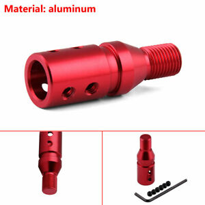12x1.25 Red Automotive Transmission Thread Converter Gear Lever Adapter Aluminum