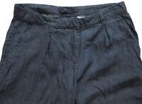 New Womens Blue Tencel Linen NEXT Crop Trousers Size 20 16 14 12 10 RRP £30