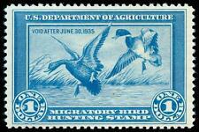momen: US Stamps #RW1 Duck Mint OG NH VF/XF