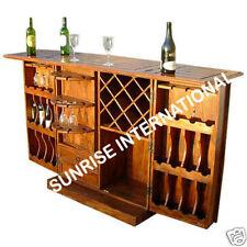 Exclusive Handmade Wooden Wine Bar Cabinet rack !!