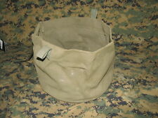 """military vintage canvas cover 10 1/2"""" round 8"""" deep pull tight string authentic"""