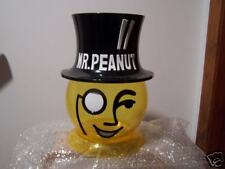 PLANTERS Mister MR PEANUT Head Cookie Jar Bowl Dish NEW Plastic Vintage Rare
