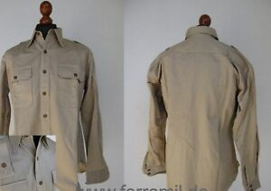 US Army Field Shirt Khaki Em Service Size M Air Corps Chino Usmc Navy