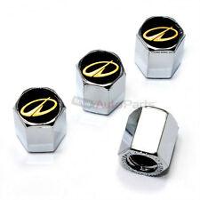 4 Oldsmobile Gold Logo Chrome ABS Tire/Wheel Pressure Air Stem Valve CAPS Covers
