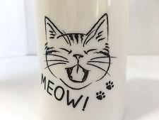 Cute Pen Pencil Holder Organiser Cat Meow White