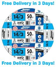 14/3 W/GROUND ROMEX INDOOR ELECTRICAL WIRE 50' FEET (ALL LENGTHS AVAILABLE)