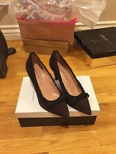 Authentic MARC JACOBS DARK BROWN SUEDE LEATHER POINTED TOE WEDGE HEELS Size 8 38