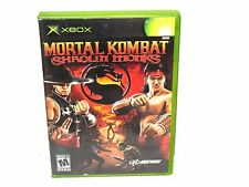 Original Xbox Game Mortal Kombat: Shaolin Monks CIB Complete Disc Manual RARE
