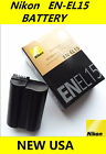 NEW OEM EN-EL15 Battery for Nikon D600 D610 D750 D7100 D7200 D800 D810 V1 Camera