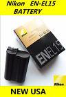 NEW OEM EN-EL15 Battery for Nikon D600 D610 D750 D7100 D7200 D800 D810 V1 Camera