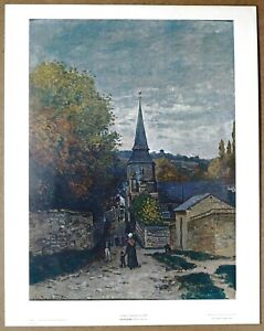 Claude Monet Street in Fecamp 1st Limited Edition Original 1960 Lithograph