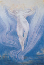"""Jacques Delville """"Die Liebe der Seelen"""" 1900 Erotik Akt Aufstieg Symbolismus 20"""