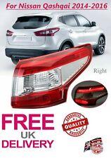 Fit Nissan Qashqai 2014-2016 LED Rear Light Tail Light Lamp Right Side