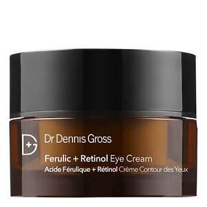 Dr Dennis Gross Skincare Ferulic + Retinol EYE CREAM 0.5 OZ FULL SIZE! NEW 15ml