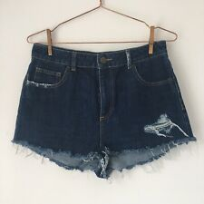 Urban Outfitters BDG Distressed Blue Denim Shorts Size W30 / UK12