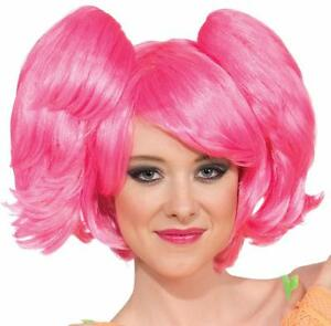 Wig Pony Tail Set Short Rave Fancy Dress Halloween Costume Accessory 2 COLORS