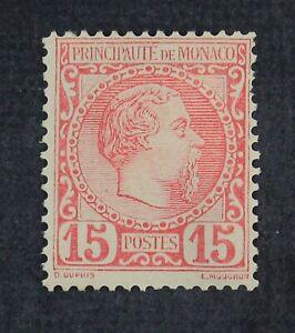 CKStamps: France Stamps Collection Monaco Scott#5 Mint HR OG